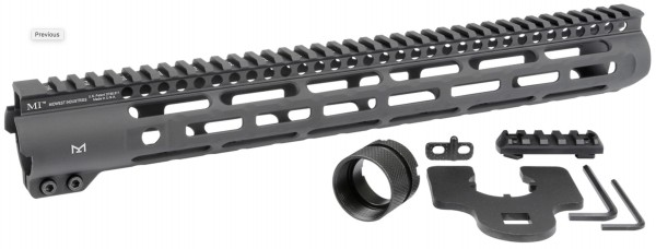 "Midwest Industries 15"" AR15 M-LOK Slim Line One Piece Free Float Handguard"