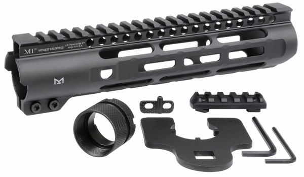 "Midwest Industries 9,25"" AR15 M-LOK Slim Line One Piece Free Float Handguard"