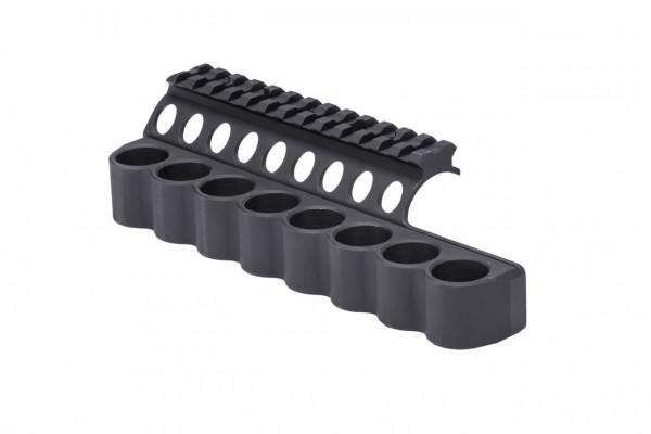 Mesa Tactical SureShell Aluminum Schrotpatronenhalter mit Picatinny-Schiene für Benelli M4